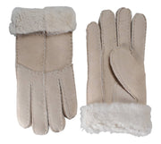 Nordvek womens sheepskin gloves venetian grey pair 321-100