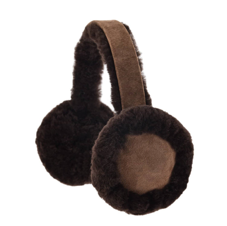 Nordvek womens sheepskin earmuffs 506-100 chocolate front