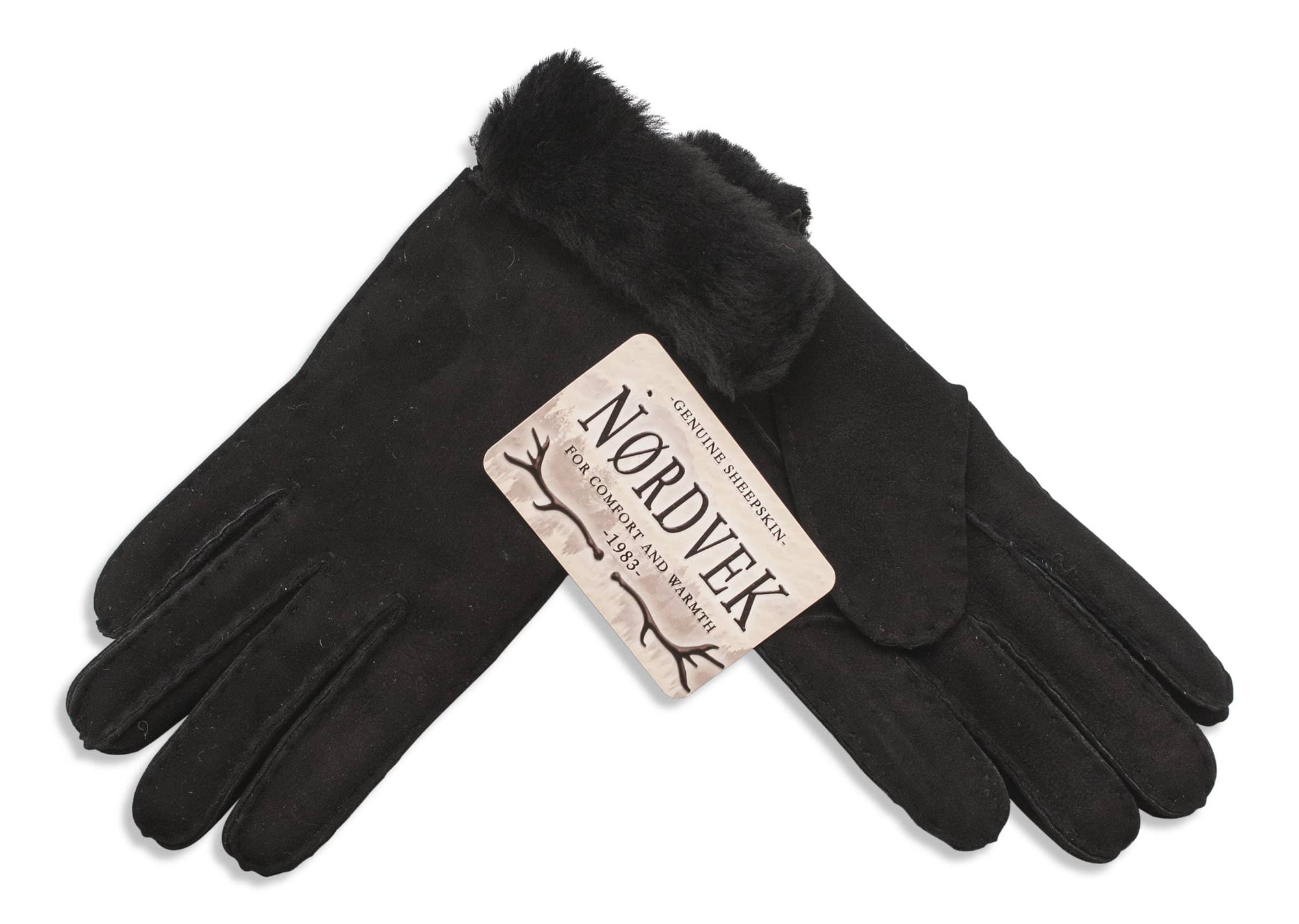 Nordvek womens sheepskin gloves 318-100 Brown Pair