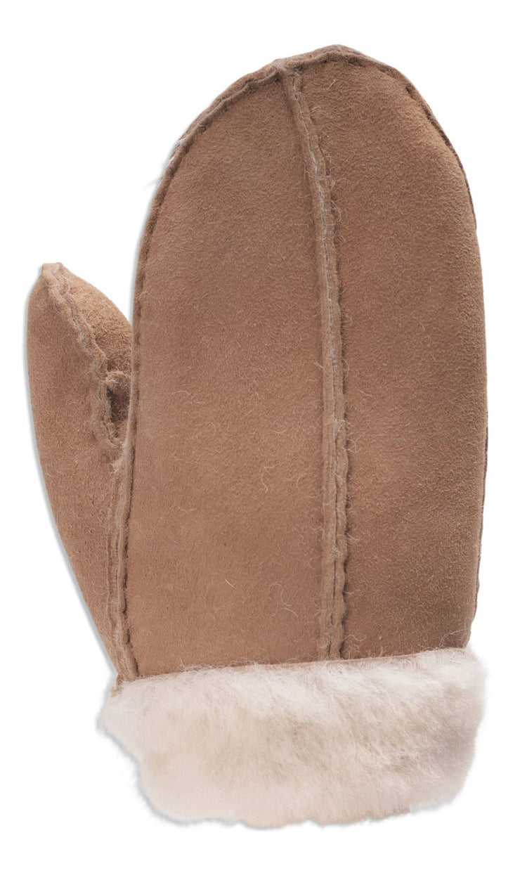 Nordvek childrens sheepskin mittens 325-100 camel back of hand