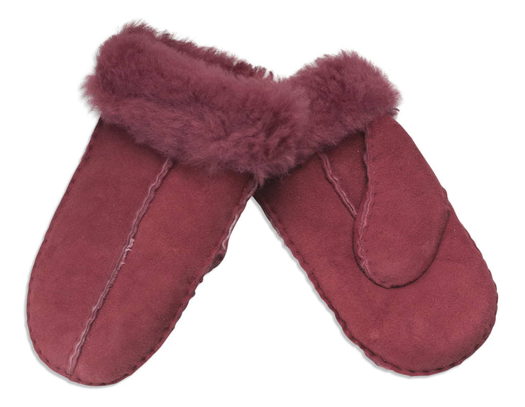 Nordvek childrens sheepskin mittens 325-100 rose pair