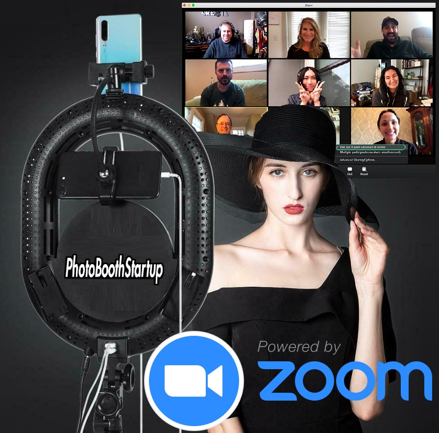 ZOOM iPhone Station | Zoom Room Ringlight - Photo Booth Startup