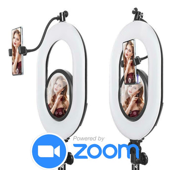 ZOOM iPhone Station | Zoom Room Ringlight - iPad Photo Booth