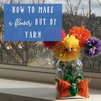 How to make a spring flower out of yarn