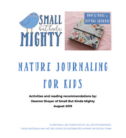 Nature Journaling for kids - free printable pdf