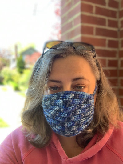 Custom crochet non-medical face masks
