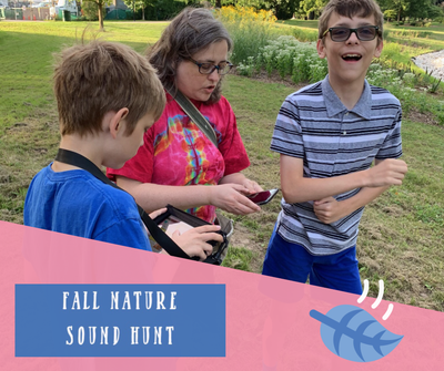 Fall nature sound hunt printable pdf