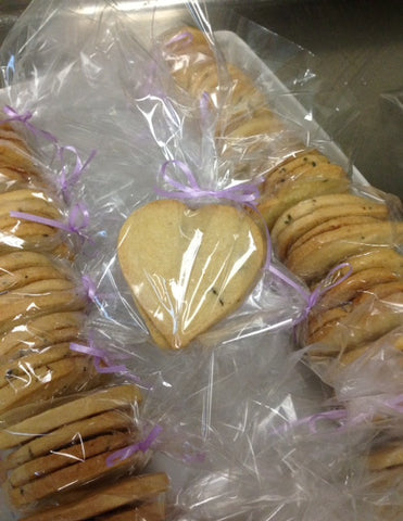 Lavender and Lemon Heart Shortbread Cookies