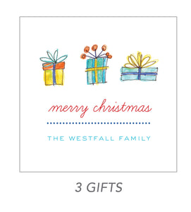 christmas stickers (3 gifts)
