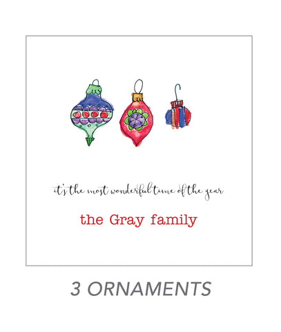christmas stickers (3 ornaments)
