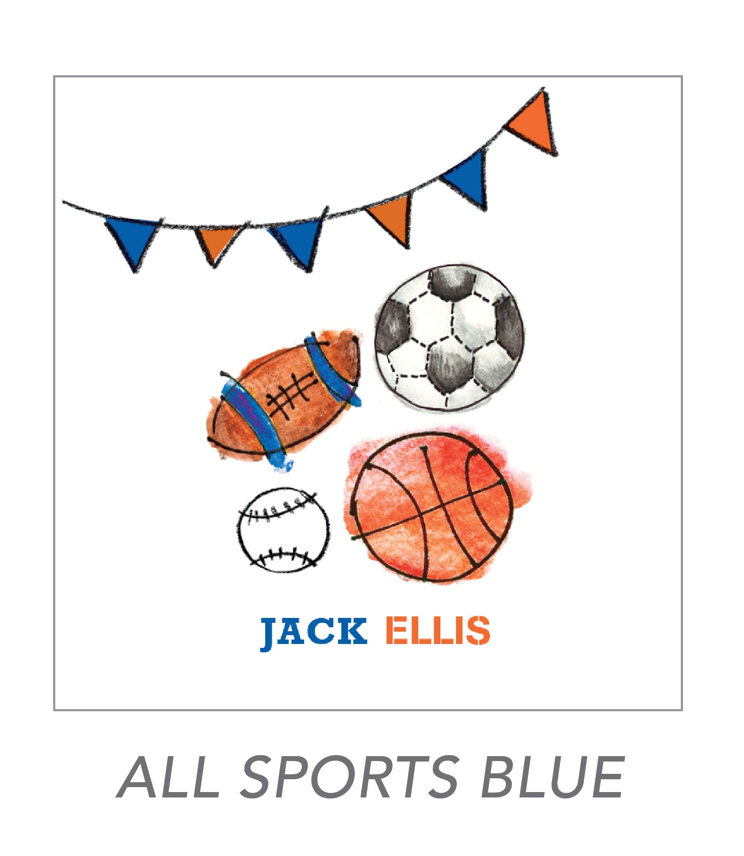 boy stickers (ALL SPORTS BLUE)