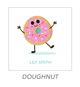 girl stickers (doughnut)