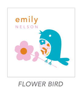 girl stickers (flower bird)