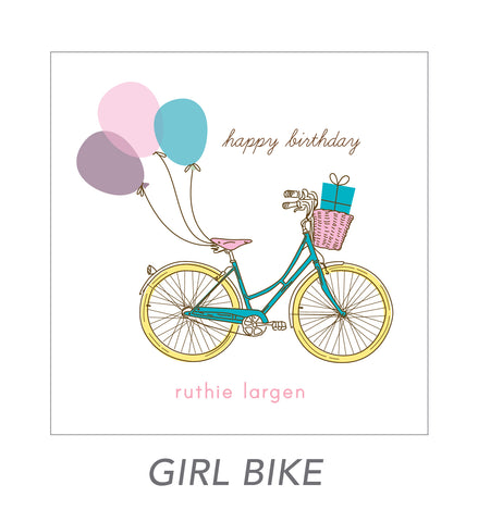 girl stickers (girl bike)