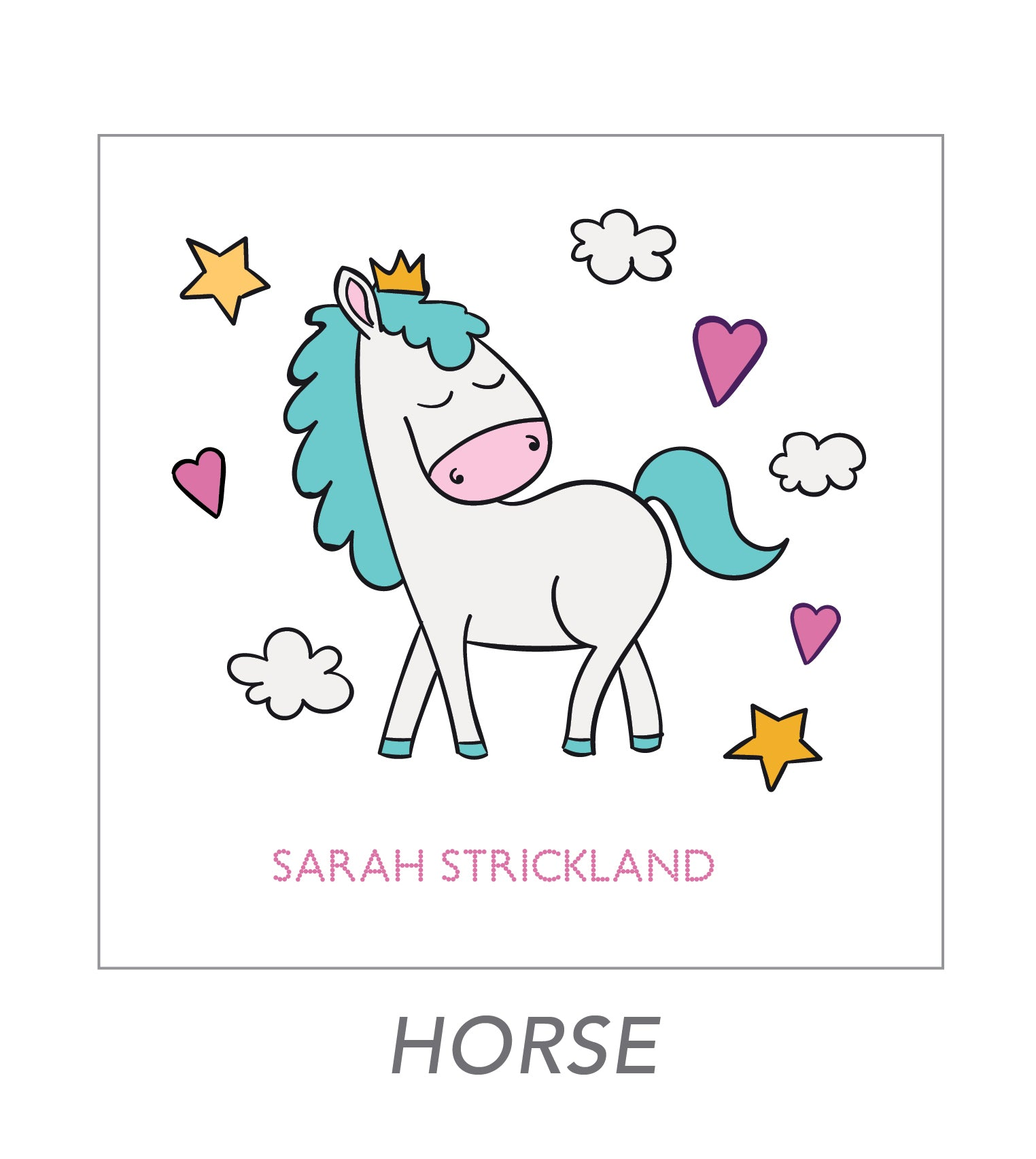girl stickers (horse)