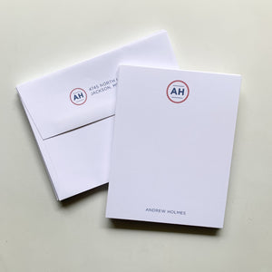 Two Letter Monogram Notecards