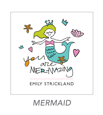 girl stickers (mermaid)