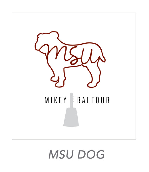boy stickers (MSU DOG)