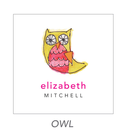 girl stickers (owl)