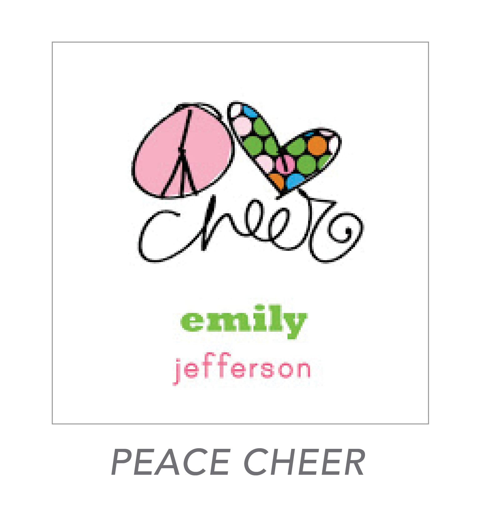 girl stickers (peace cheer)