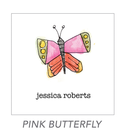 girl stickers (pink butterfly)
