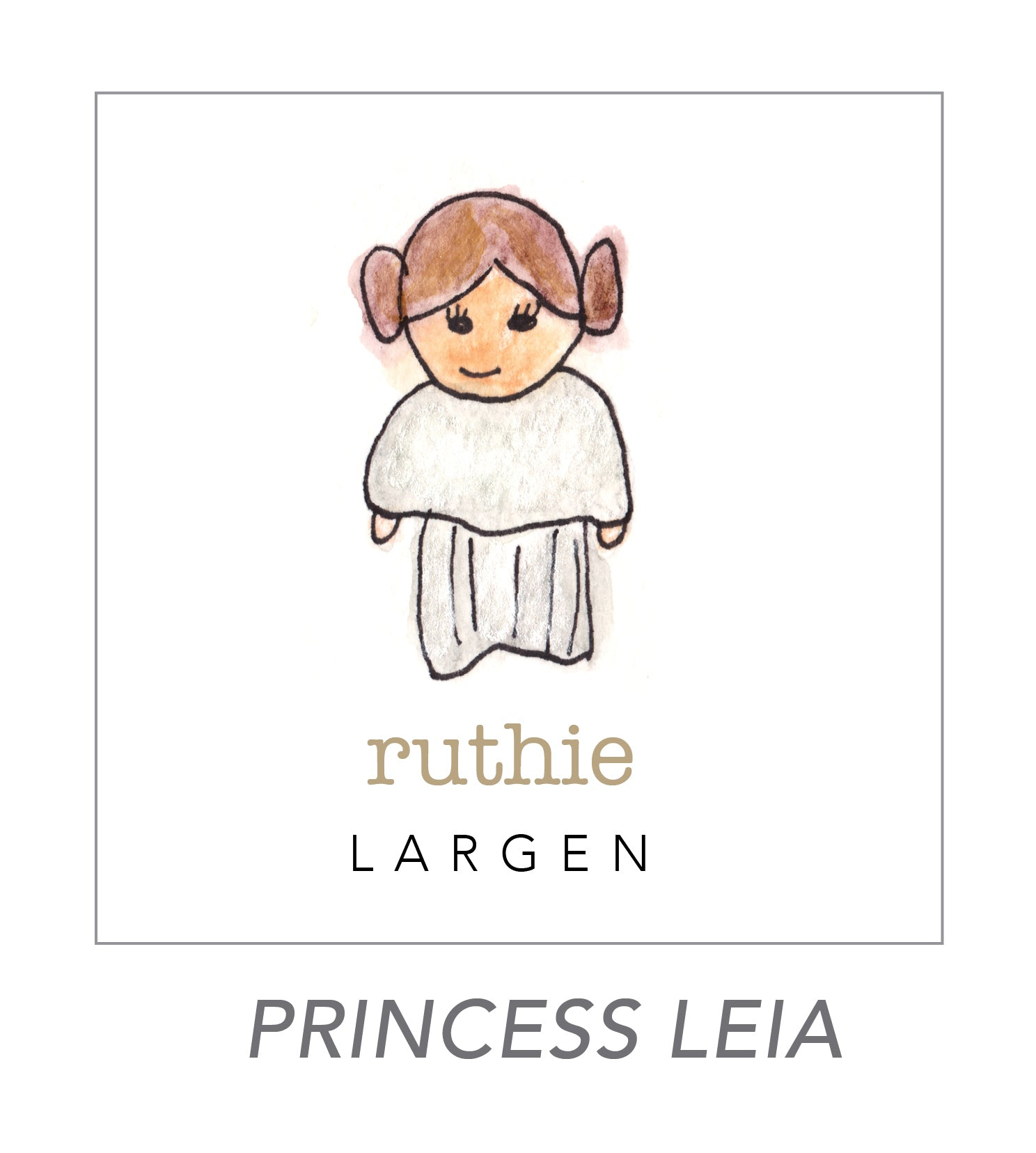 girl stickers  (princess leia)