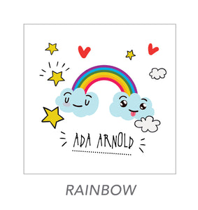 girl stickers (rainbow)