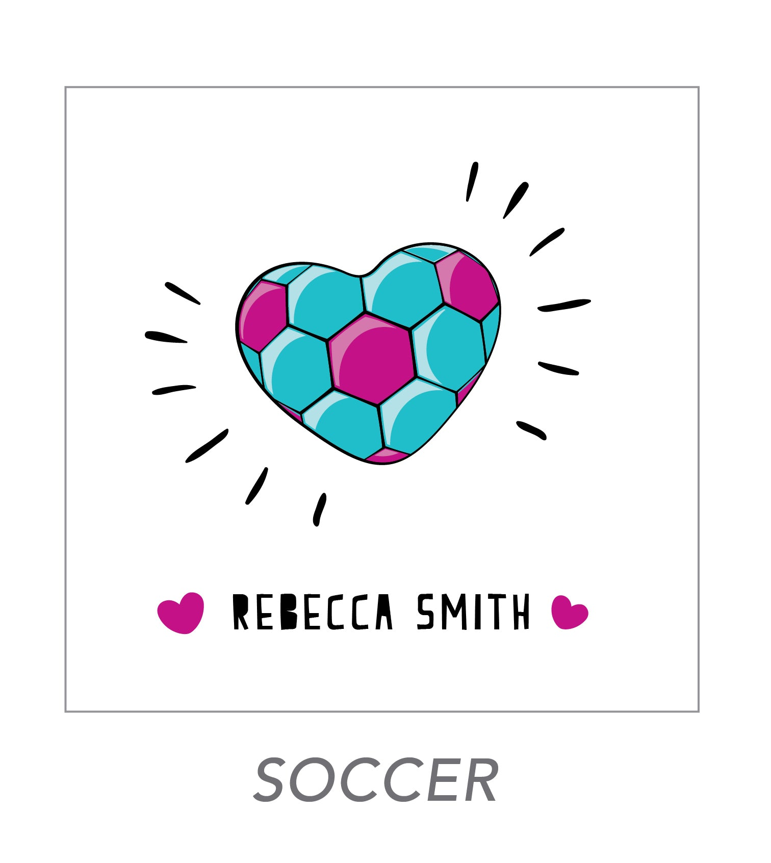 girl stickers (soccer)