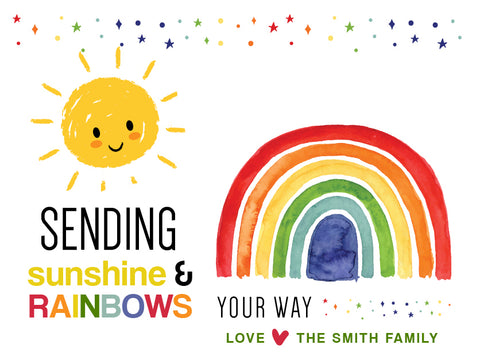 postcard (sunshine & rainbows)