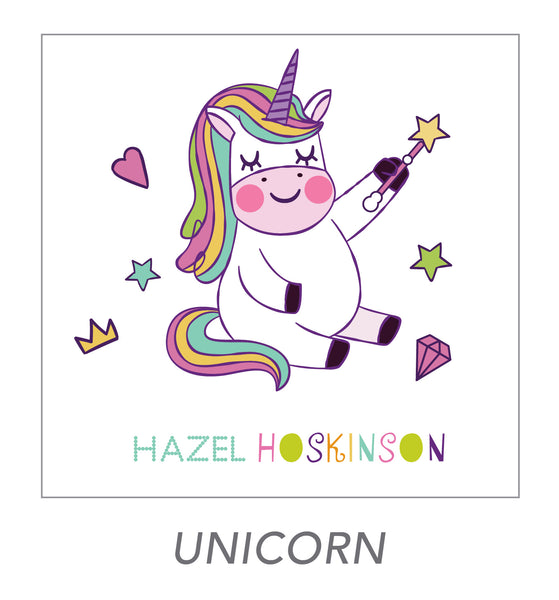girl stickers (unicorn)