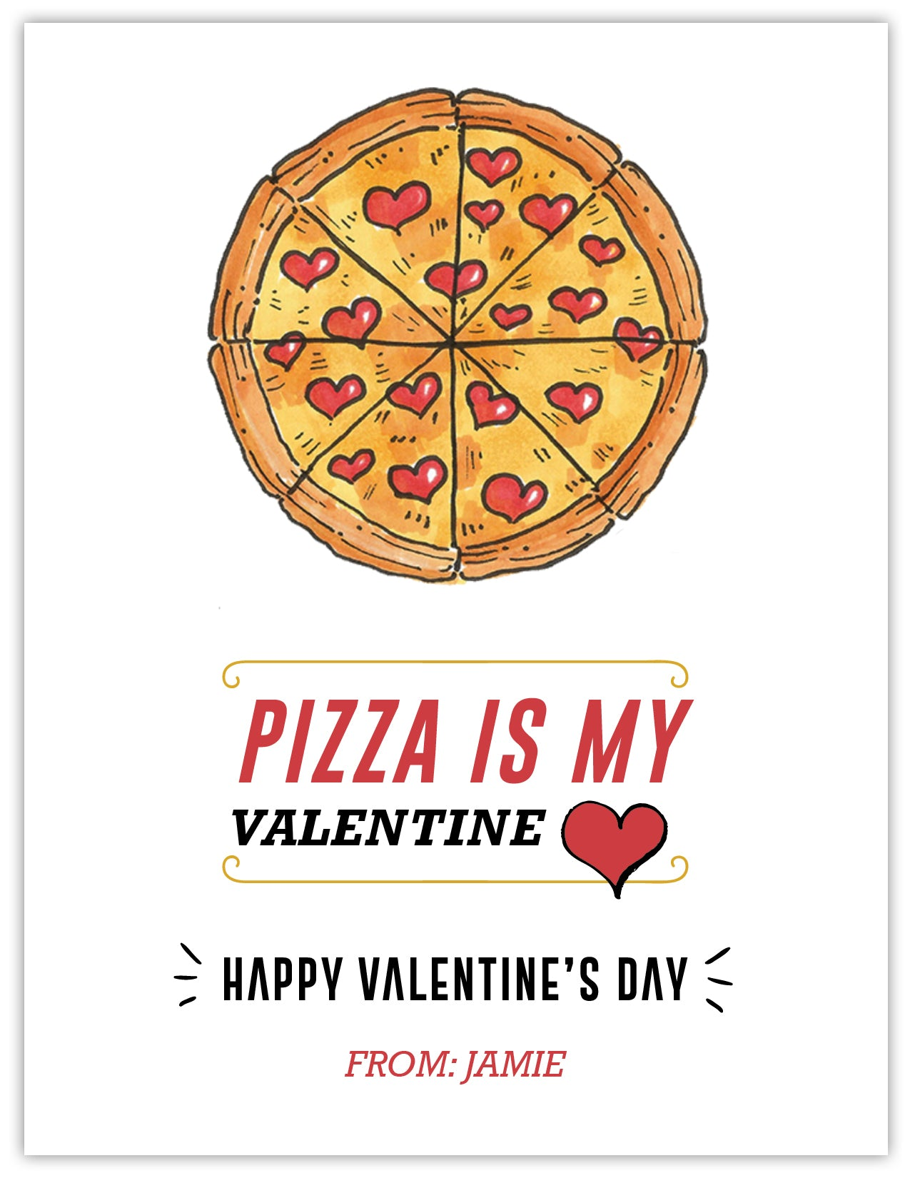 Pizza Boy Valentine