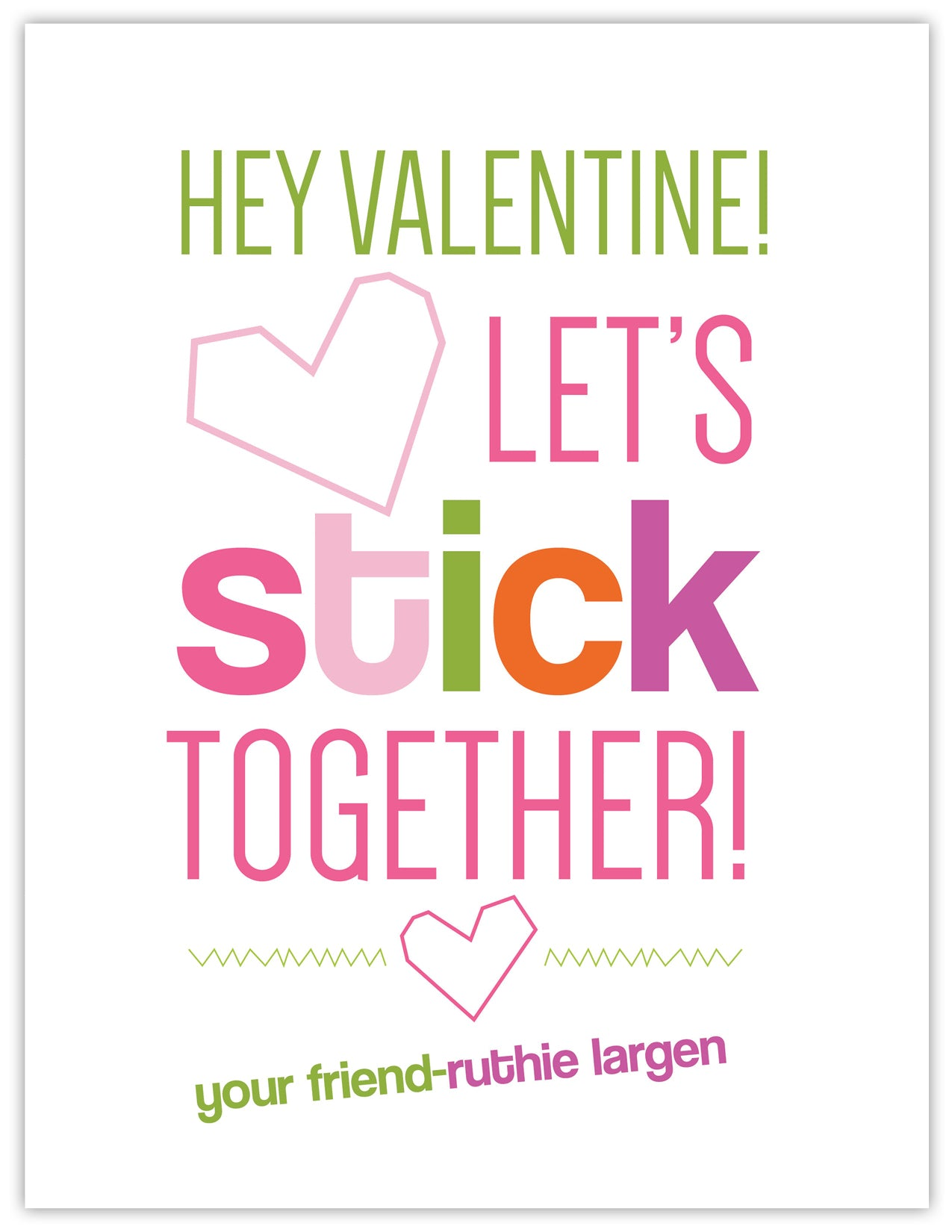 Stick Together Valentine