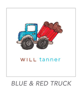 boy stickers (BLUE & RED TRUCK)