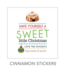 christmas stickers (cinnamon stickers)