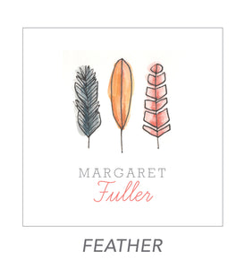 grown up stickers (feather)