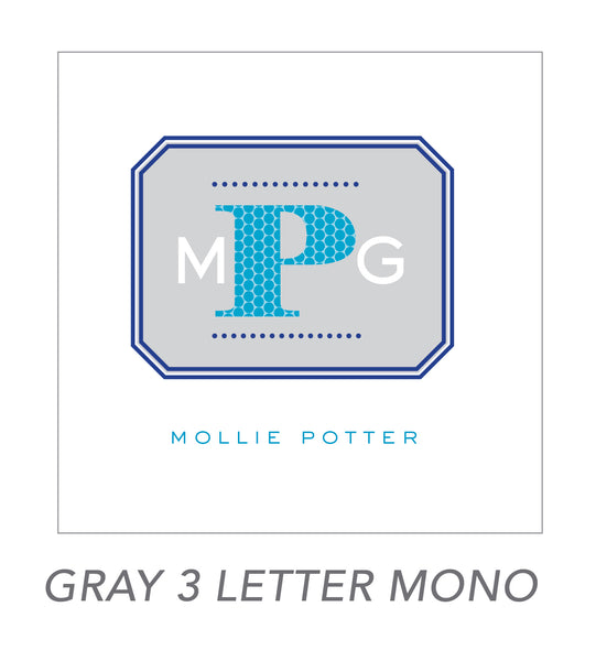 grown up stickers (GRAY 3 LETTER MONO)