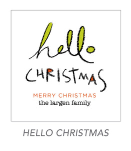 christmas stickers (hello christmas)