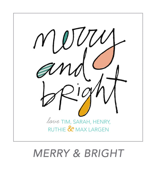 christmas stickers (merry & bright)