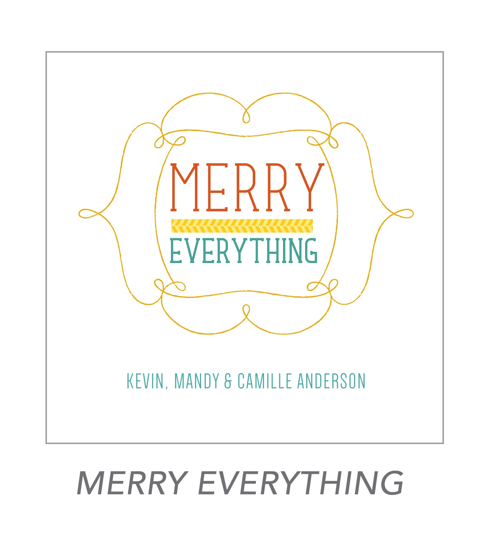 christmas stickers (merry everything)