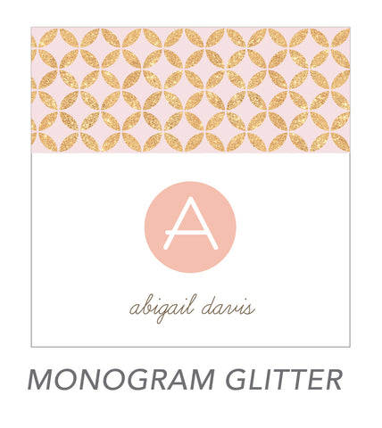 grown up stickers (MONOGRAM GLITTER)