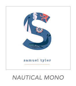 boy stickers (NAUTICAL MONO)