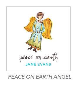 christmas stickers (peace on earth angel)
