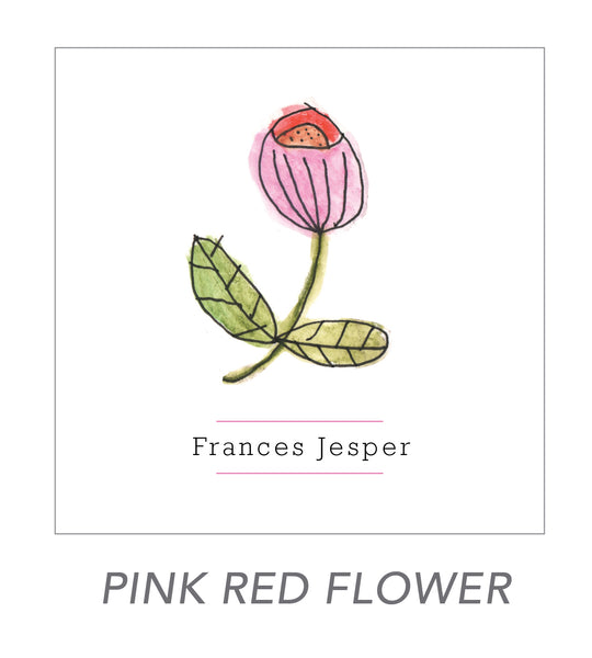 grown up stickers (PINK RED FLOWER)