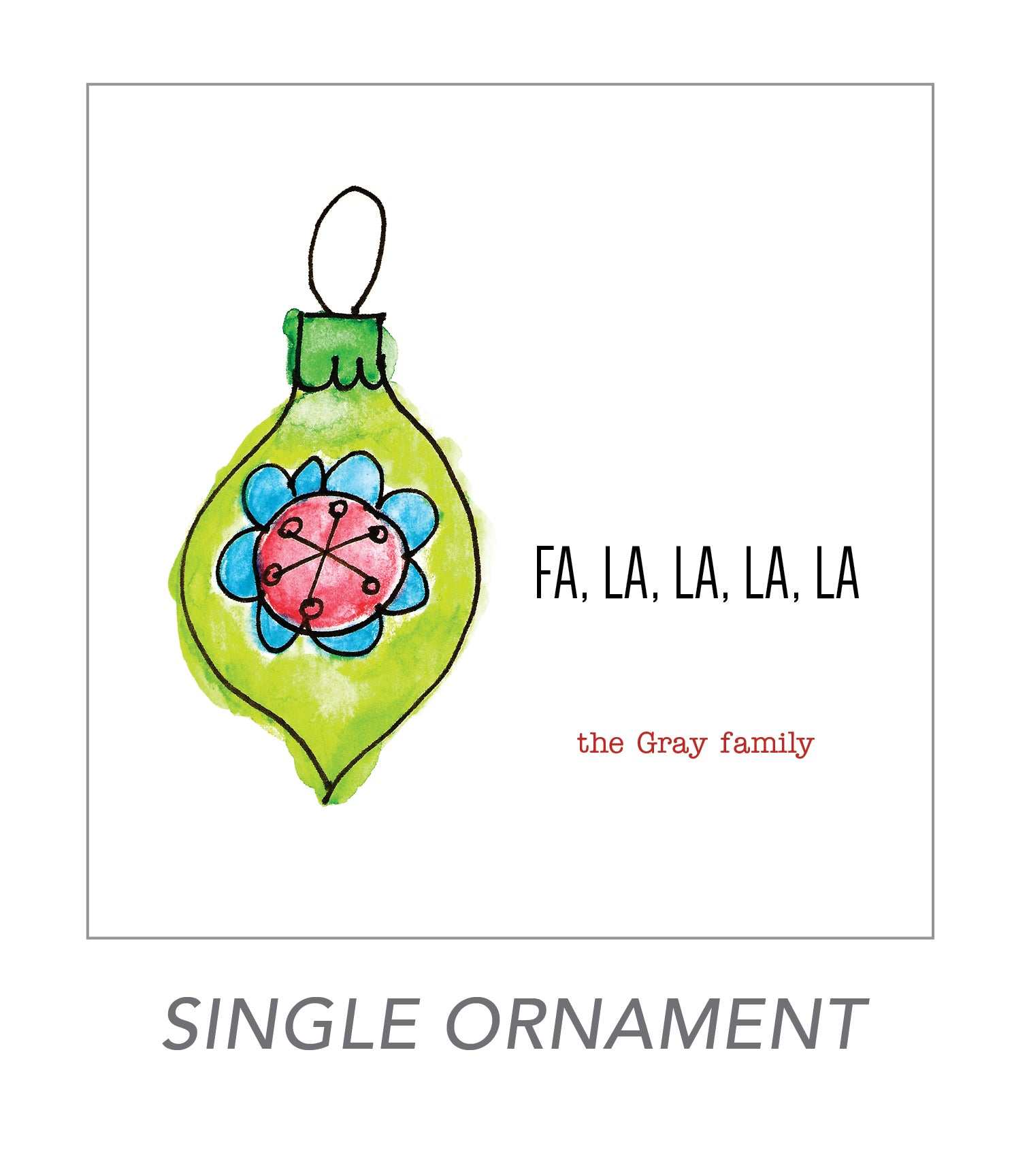 christmas stickers (single ornament)