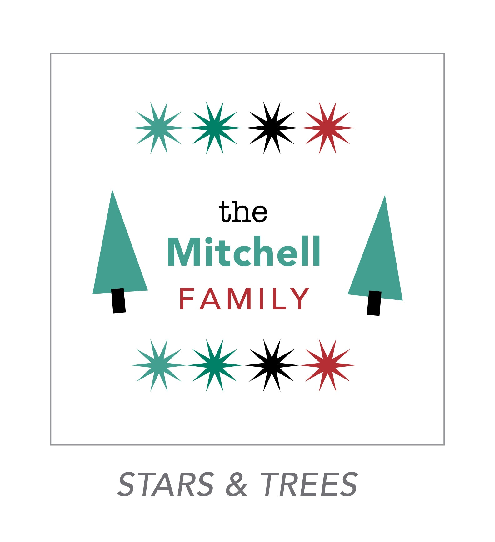 christmas stickers (stars & trees)