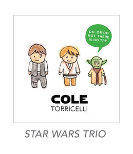 boy stickers (STAR WARS TRIO)