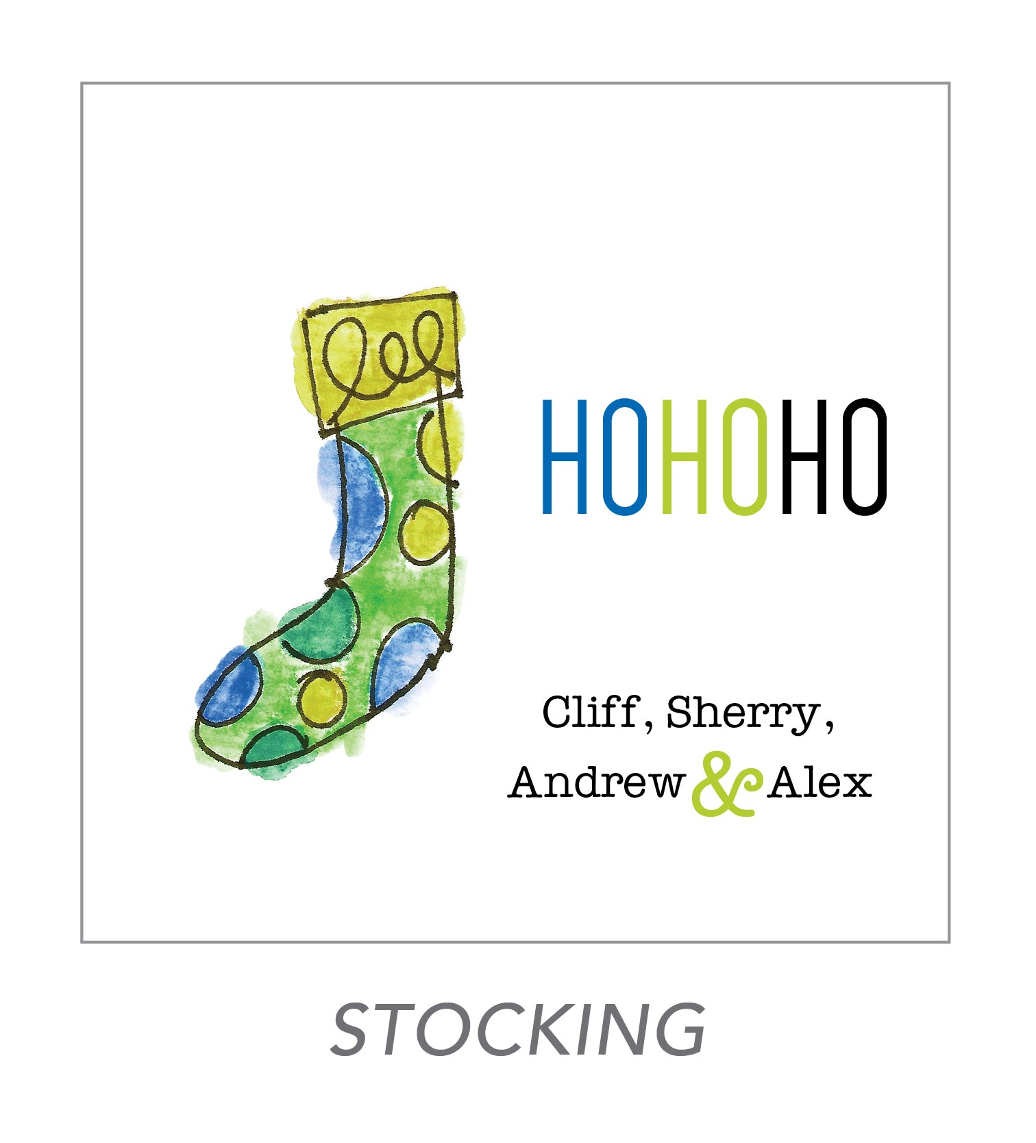 christmas stickers (stocking)