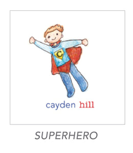 boy stickers (SUPERHERO)