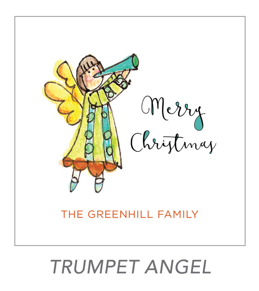 christmas stickers (trumpet angel)