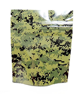 "Mylar Storage Bags 4"" x 6.5"" - Green Camo 10 per Pack"